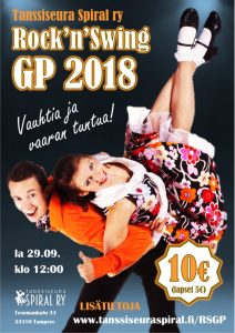 Mainos Rock'n'swing GP 2018