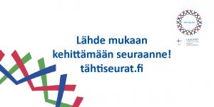 Mainos: Lähde mukaan kehittämään seuraanneI tähtiseurat.fi