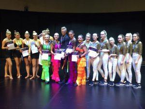 Synchro Dancen kolme parasta joukkujetta palkintoineen