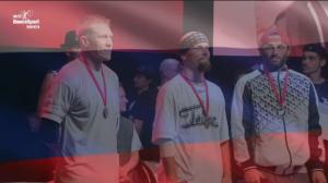 "Johannes ""Hatsolo"" Hattunen vasemmalla, breikin EM-pronssia 26.6.2021"