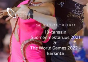 10-tanssin SM ja The World Games -karsinta juliste, latinalaistanssijat