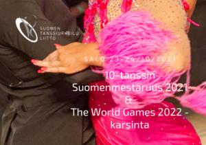 10-tanssin SM ja The World Games 2022 -karsinta juliste vakiotanssijat