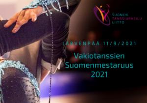 Vakiotanssien SM 2021 -juliste